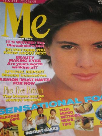 ME magazine, 11 September 1989 issue for sale. Original FASHION publication from Tilley, Chesterfiel