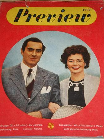 PREVIEW FILM ANNUAL 1950 issue for sale. TYRONE POWER, MARGARET LOCKWOOD. Original British MOVIE pub