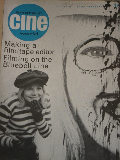 AMATEUR CINE WORLD magazine, July 22 1965 issue for sale. Original British publication from Tilley,