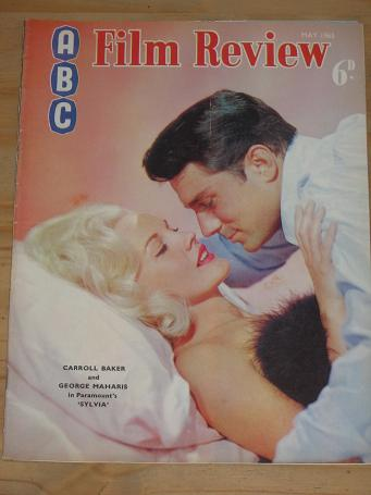 ABC FILM REVIEW MAGAZINE MAY 1965 BACK ISSUE FOR SALE CARROLL BAKER GEORGE MAHARIS VINTAGE MOVIE PUB