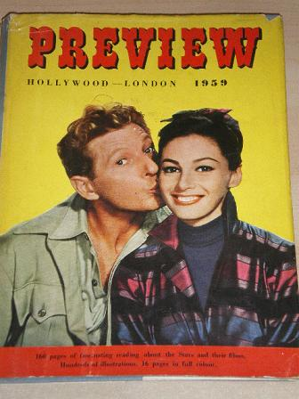 PREVIEW FILM ANNUAL 1959 issue for sale. DANNY KAYE, PIER ANGELI. Original British MOVIE publication
