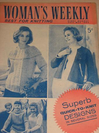 WOMANS WEEKLY magazine, 26 May 1962 issue for sale. KNITTING, FICTION, COOKERY, FASHION, HOME. Vinta