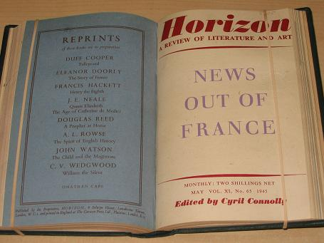 HORIZON magazine, Volume 11, January, February, March, April, May, June 1945 issues for sale. SITWEL