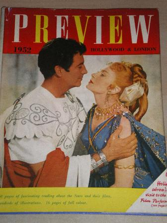 PREVIEW FILM ANNUAL 1952 issue for sale. ROBERT TAYLOR, DEBORAH KERR. Original British MOVIE publica