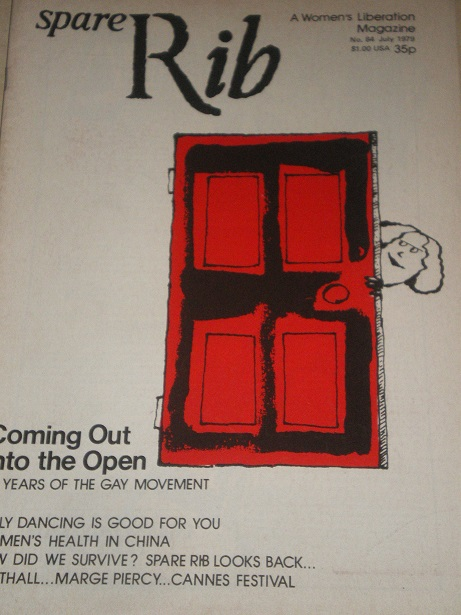 SPARE RIB magazine, July 1979 issue for sale. Original British FEMINIST publication from Tilley, Che
