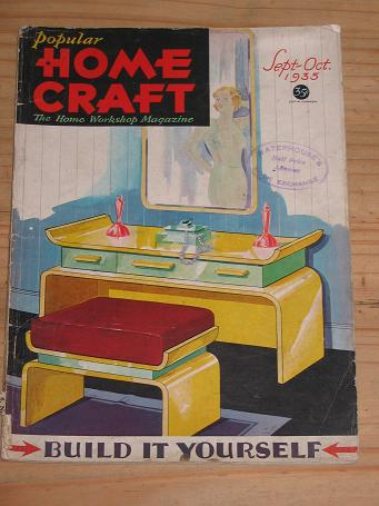 POPULAR HOMECRAFT September - October 1935. Vintage DO-IT-YOURSELF magazine for sale. Classic images