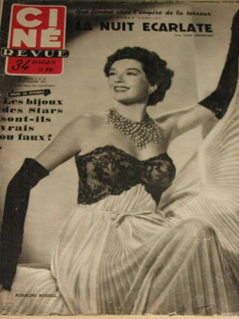 CINE REVUE magazine, 21 November 1952 issue for sale. ROSALIND  RUSSELL. Original Belgian, French La