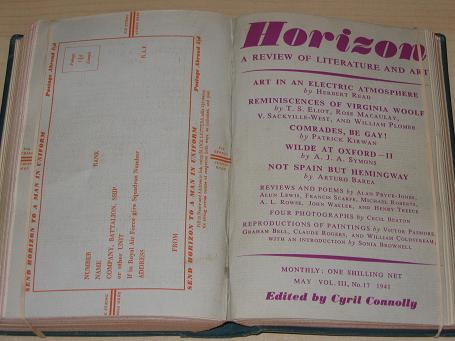 HORIZON magazine, Volume 3, January - June 1941 issues for sale. BETJEMAN, THOMAS, JOHN, SPENDER, DA