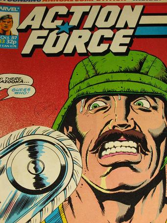 ACTION FORCE comic, 1987 issue Number 33 for sale. Original British publication from Tilleys, Cheste