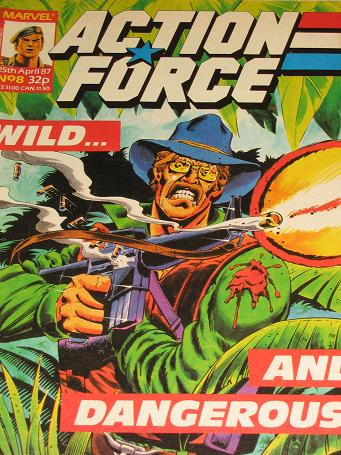 ACTION FORCE comic, 1987 issue Number 8 for sale. Original British publication from Tilleys, Chester