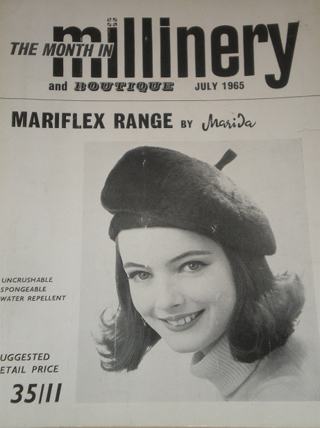 MILLINERY AND BOUTIQUE magazine, July 1965 issue for sale. HATS, FASHION. Original BRITISH publicati