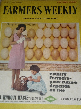 FARMERS WEEKLY magazine, July 3 1964 issue for sale. Original British publication from Tilley, Chest