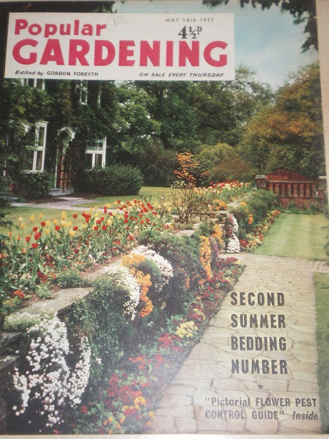 POPULAR GARDENING magazine, May 18 1957 issue for sale. Original BRITISH publication from Tilley, Ch