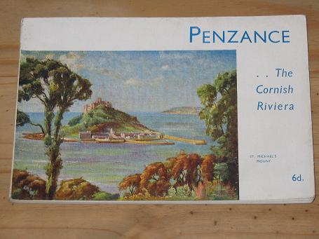 OFFICIAL GUIDE BOOK PENZANCE FOR SALE 1960S VINTAGE CORNISH RIVIERA LAND'S END PUBLICATION PURE NOST
