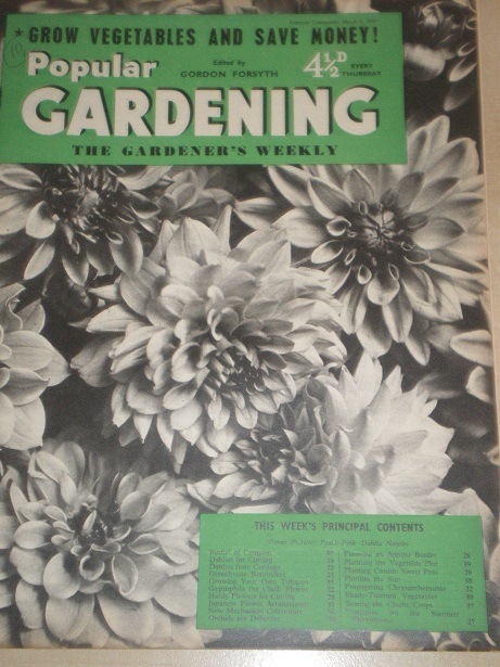 POPULAR GARDENING magazine, March 2 1957 issue for sale. Original BRITISH publication from Tilley, C