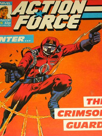 ACTION FORCE comic, 1987 issue Number 6 for sale. Original British publication from Tilleys, Chester