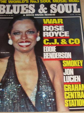 BLUES AND SOUL magazine, Number 236, 1977 issue for sale. DIANA ROSS. Vintage DISCO, MUSIC publicati