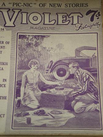 VIOLET magazine, May 24 1929 issue for sale. Original British PULP STORY PAPER from Tilley, Chesterf