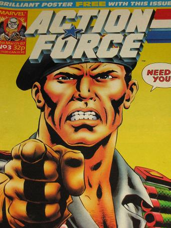 ACTION FORCE comic, 1987 issue Number 3 for sale. Original British publication from Tilleys, Chester