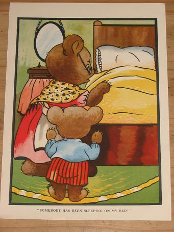 ORIGINAL VINTAGE CHILDRENS BOOK ILLUSTRATION FOR SALE COLOURED PRE 1960 FRAME NURSERY PURE NOSTALGIA
