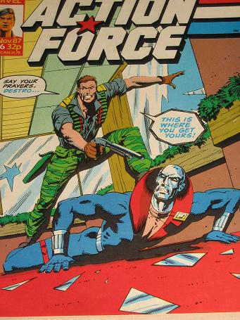 ACTION FORCE comic, 1987 issue Number 36 for sale. Original British publication from Tilleys, Cheste