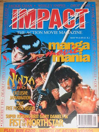 IMPACT MAGAZINE MAY 1995 ACTION MOVIE BACK ISSUE FOR SALE CLASSIC IMAGES OF THE TWENTIETH CENTURY PU