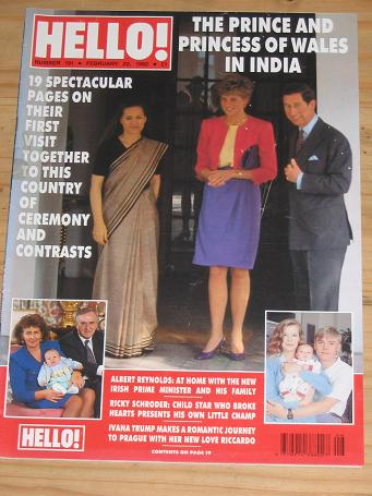PRINCESS DIANA HELLO 191 ISSUE FEBRUARY 22 1992 MAGAZINE FOR SALE PURE NOSTALGIA ARCHIVES CLASSIC IM