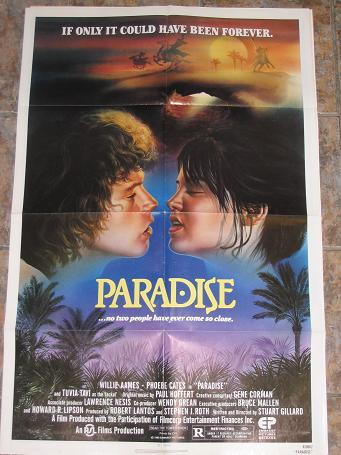 ORIGINAL MOVIE POSTER PARADISE 1982 FOR SALE PURE NOSTALGIA ARCHIVES CLASSIC IMAGES OF THE TWENTIETH
