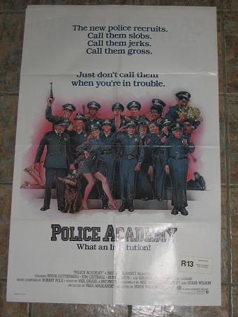 ORIGINAL MOVIE POSTER POLICE ACADEMY 1984 FOR SALE PURE NOSTALGIA ARCHIVES CLASSIC IMAGES OF THE TWE