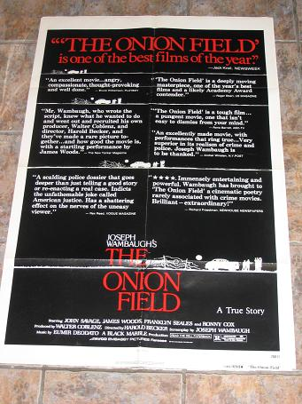 ORIGINAL MOVIE POSTER THE ONION FIELD 1979 FOR SALE PURE NOSTALGIA ARCHIVES CLASSIC IMAGES OF THE TW