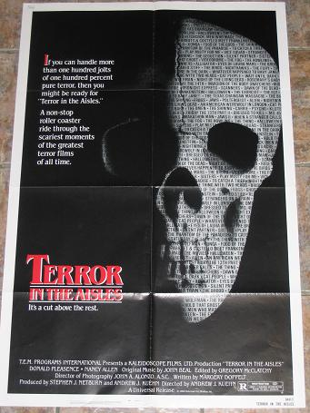 ORIGINAL MOVIE POSTER TERROR IN THE AISLES 1984 FOR SALE PURE NOSTALGIA ARCHIVES CLASSIC IMAGES OF T