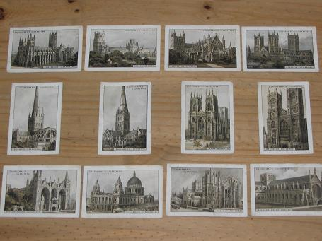 1924 SET 12 CHURCHMAN CATHEDRALS AND CHURCHES CIGARETTE CARDS FOR SALE PURE NOSTALGIA ARCHIVES PRESE
