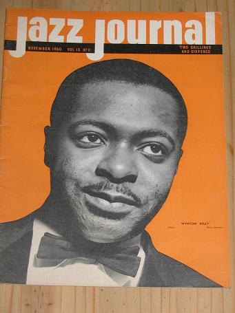 WYNTON KELLY JAZZ JOURNAL 1960 NOVEMBER ISSUE FOR SALE VINTAGE MUSIC MAGAZINE PURE NOSTALGIA ARCHIVE