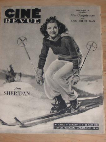 CINE REVUE 22 MARCH 1946 ANN SHERIDAN SKI-ING TRACY VINTAGE MOVIE PUBLICATION FOR SALE CLASSIC IMAGE