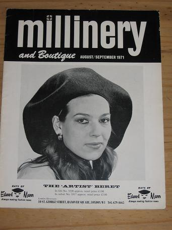 MILLINERY AND BOUTIQUE MAG AUG/SEP 1971 VINTAGE HAT PUBLICATION FOR SALE CLASSIC IMAGES OF THE 20TH