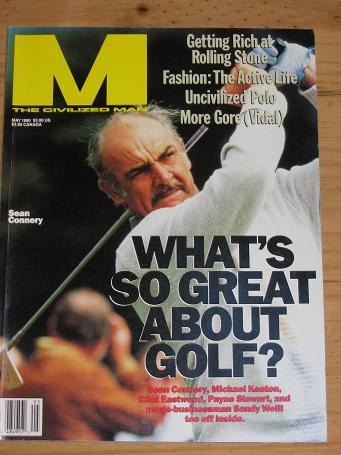 M MAG MAY 1990 SEAN CONNERY GOLF VIDAL VINTAGE MENS PUBLICATION FOR SALE PURE NOSTALGIA ARCHIVES CLA