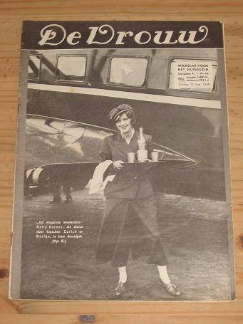 DE VROUW MAG 12 AUG 1934 SWISSAIR VINTAGE BELGIAN PUBLICATION FOR SALE PURE NOSTALGIA ARCHIVES CLASS
