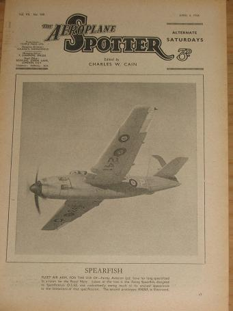 ISSUE 159 AEROPLANE SPOTTER MAG APRIL 6 1946 ORIGINAL VINTAGE AVIATION PUBLICATION FOR SALE CLASSIC