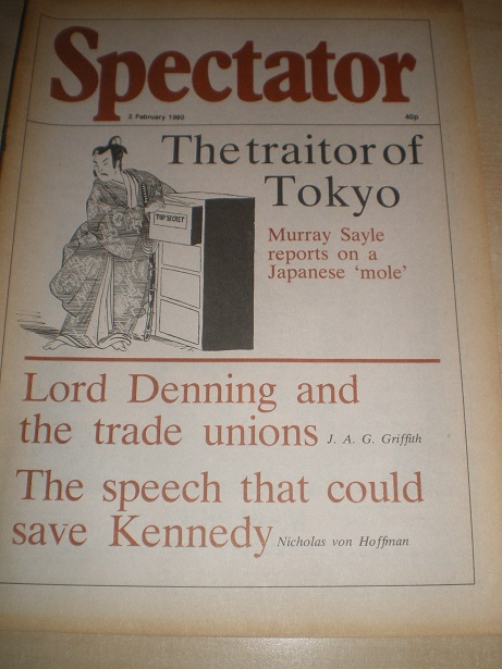 SPECTATOR magazine, 2 February 1980 issue for sale. MURRAY SAYLE, KENNEDY. Original British POLITICA
