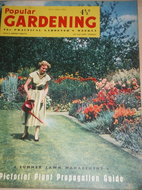 POPULAR GARDENING magazine, July 20 1957 issue for sale. Original BRITISH publication from Tilley, C