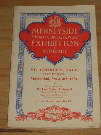 PROGRAMME MERSEYSIDE BREAD CONFECTIONERY EXHIBITION 1954 FOR SALE VINTAGE PUBLICATION PURE NOSTALGIA