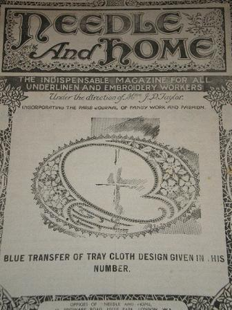 NEEDLE AND HOME magazine, November 1923 issue for sale. Original British UNDERLINEN, EMBROIDERY WORK