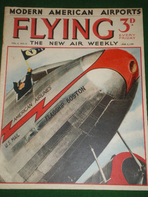 FLYING magazine, February 4 1939 issue for sale. A. ROWAN. Original British publication from Tilley,