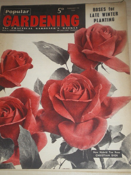 POPULAR GARDENING magazine, February 7 1959 issue for sale. Original BRITISH publication from Tilley