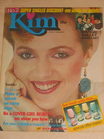 KIM magazine 1 May 1982. SPANDAU BALLET, MICHAEL JACKSON. Vintage young womans publication for sale.