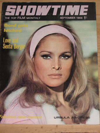 SHOWTIME MAGAZINE SEPTEMBER 1966 BACK ISSUE FOR SALE URSULA ANDRESS VINTAGE FILM MOVIE PUBLICATION P