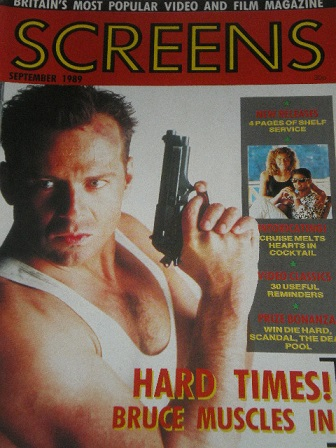 SCREENS magazine, September 1989 issue for sale. BRUCE WILLIS. Original British FILM publication fro