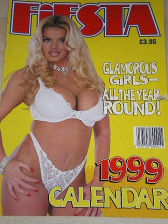 FIESTA magazine, 1999 CALENDAR issue for sale. Original British adult publication from Tilley, Chest