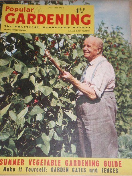 POPULAR GARDENING magazine, July 27 1957 issue for sale. Original BRITISH publication from Tilley, C