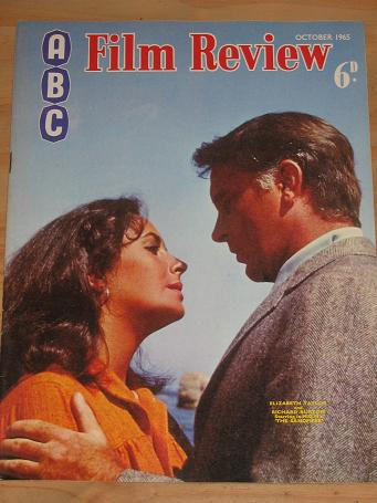 ABC FILM REVIEW MAGAZINE OCTOBER 1965 BACK ISSUE FOR SALE ELIZABETH TAYLOR RICHARD BURTON VINTAGE MO
